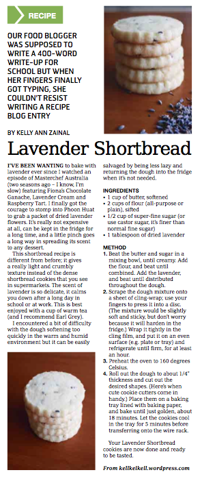 Lavender Shortbread in the Weekender