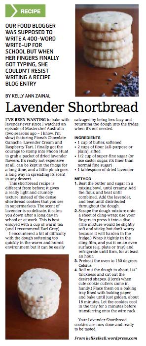 Lavender Shortbread in the Weekender