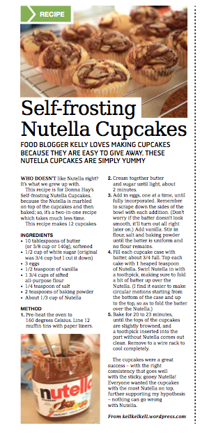 Nutella Cupcakes in the Weekender