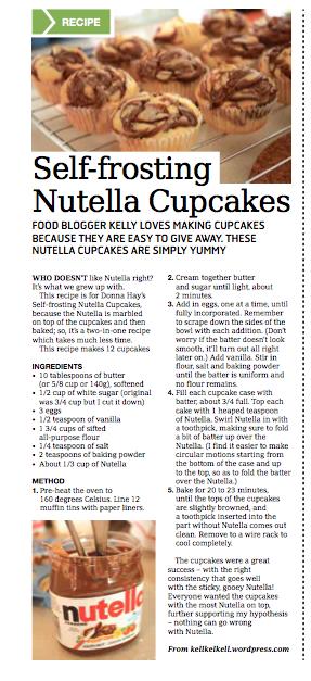 Nutella Cupcakes in the Weekender