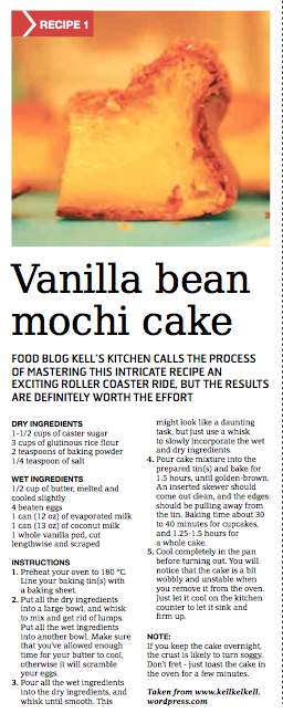 Vanilla Bean Mochi Cake in the Weekender