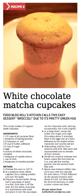 White Chocolate Matcha Cupcakes in the Weekender