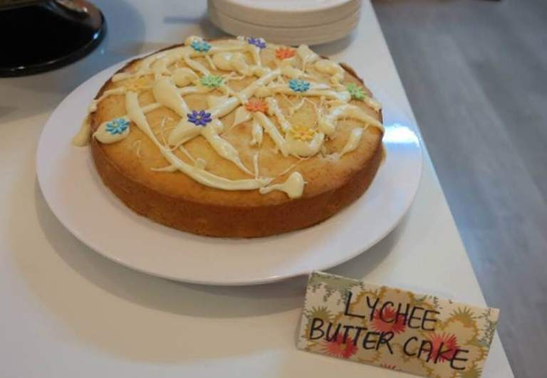 Lychee Butter Cake
